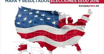Mapa y resultados elecciones Estados Unidos 2016