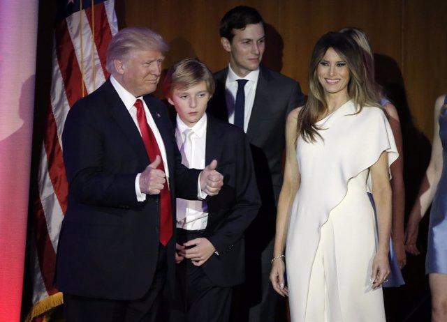 Donald Trump comparece tras la victoria electoral