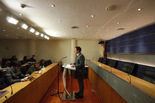 Rueda de prensa de Albert Rivera en el Congreso