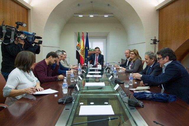 Reunión de los firmantes del Pacto por el Ferrocarril
