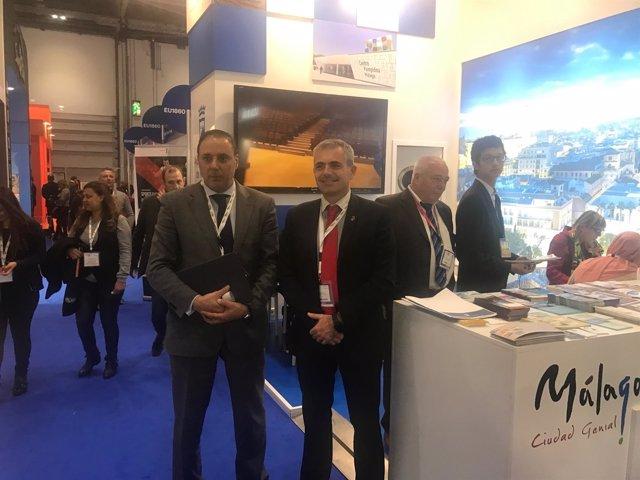 Andrade y el director general área turismo Francisco Javier Hernández