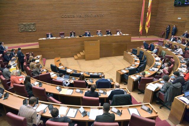 Pleno del miércoles de las Corts Valencianes