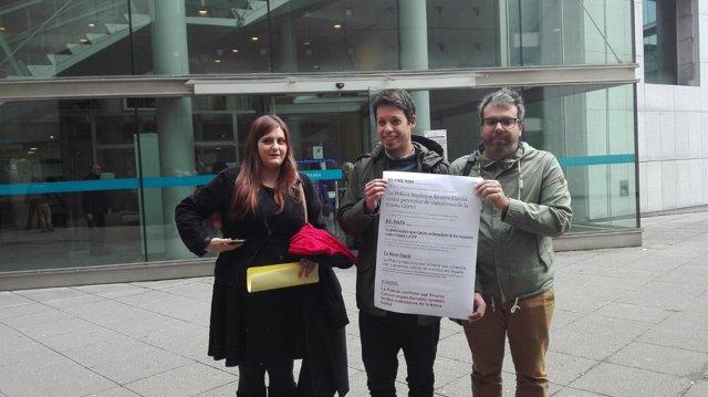 Segundo González, diputado de Podemos, en los juzgados de Oviedo