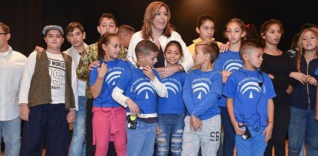 Susana Díaz, durante el acto