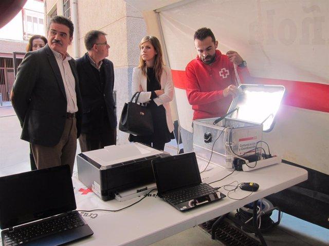 Herrero y Sánchez-Valverde asisten a un simulacro con medios de PcComponentes