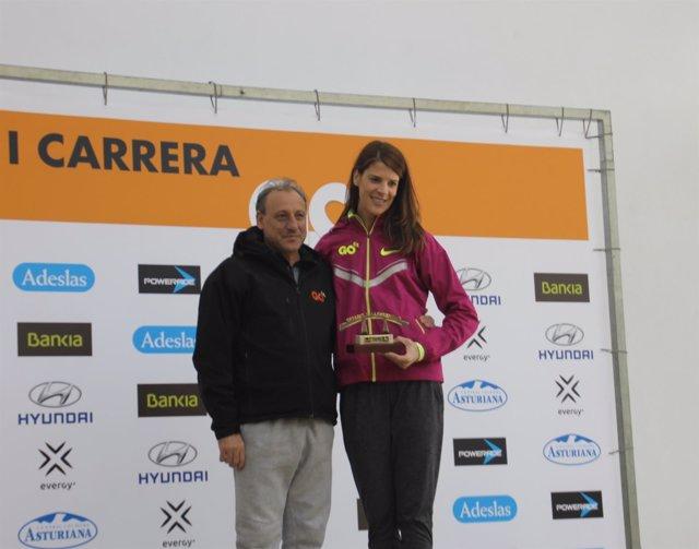 Ruth Beitia y Fermín Cacho I Carrera GO fit