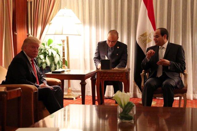 Donald Trump y Abdelfatá al Sisi