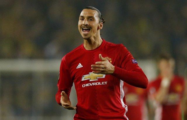 Zlatan Ibrahimovic con el Manchester United