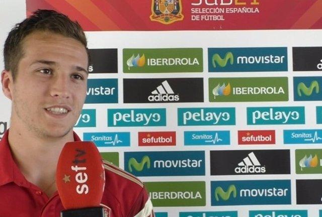 Javier Manquillo con la selección Sub-21