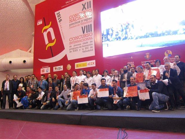 Ganadores del Concurso Nacional de Pinchos