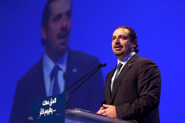 El ex primer ministro de Líbano y líder de Al Mustaqbal, Saad Hariri