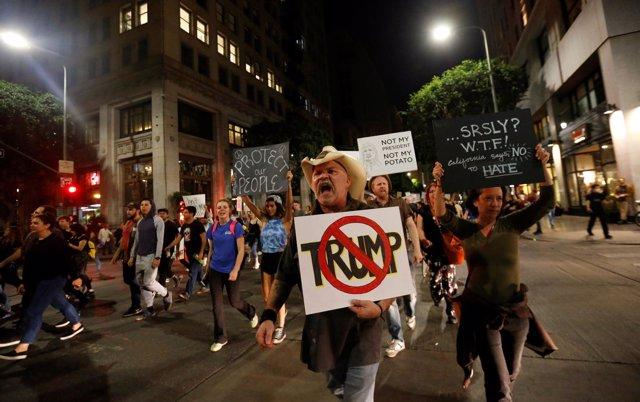 Protestas en EEUU tras la victoria de Trump
