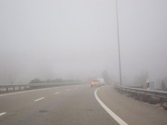 Niebla en las carreteras aragonesas.