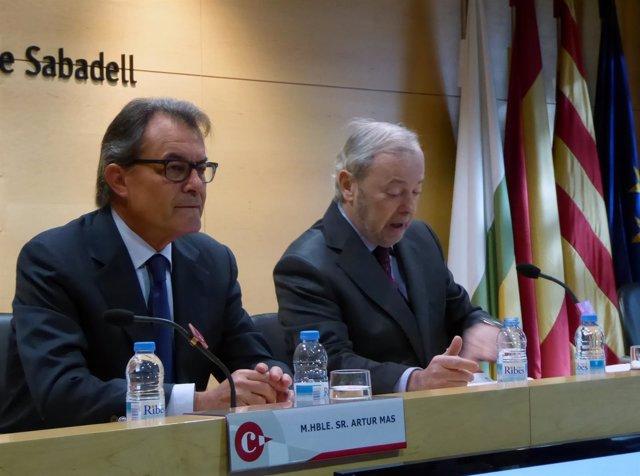 El expresidente de la Generalitat de Catalunya Artur Mas durante la conferencia