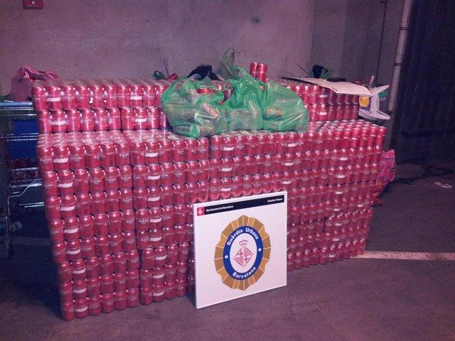 La Guardia Urbana Confisca 2.352 Latas  (Archivo)