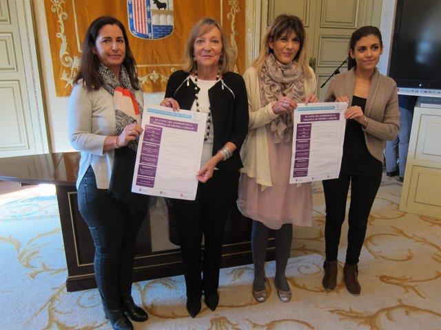 Presentación de la jornada contra la violencia de género en Salamanca.