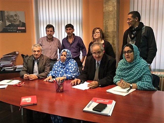 Reunión CC.OO con delegación saharaui en Cantabria
