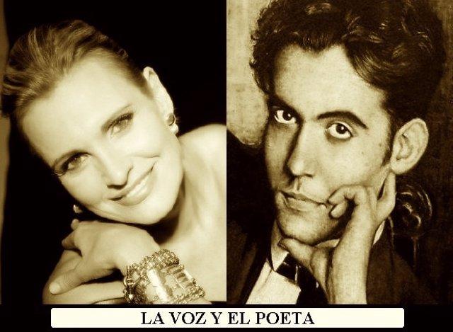 Arteta y Lorca en el cartel del espectáculo 'La voz y el poeta'