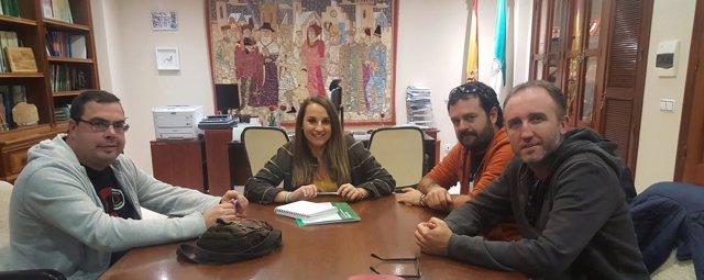 Ruiz, durante la reunión con los responsables de FOCO