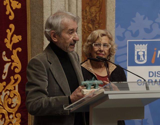Pepe Sacristán junto a Manuela Carmena