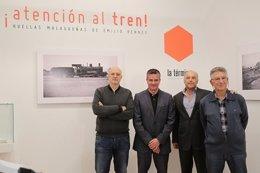 Javier González, Javier Ramírez y Michel Rennes en la exposición.