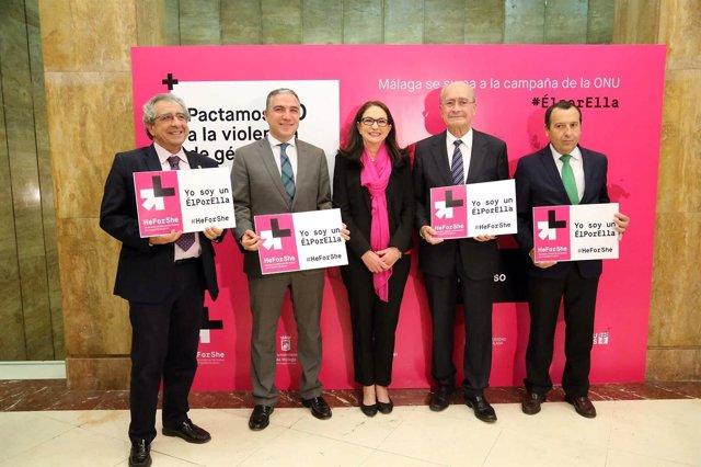 Instituciones se adhieren a la campaña 'HeForShe' de la ONU