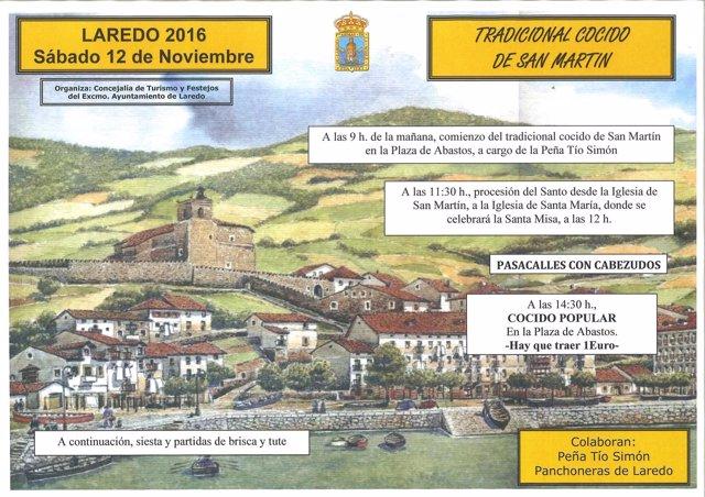 Cartel festividad San Martín