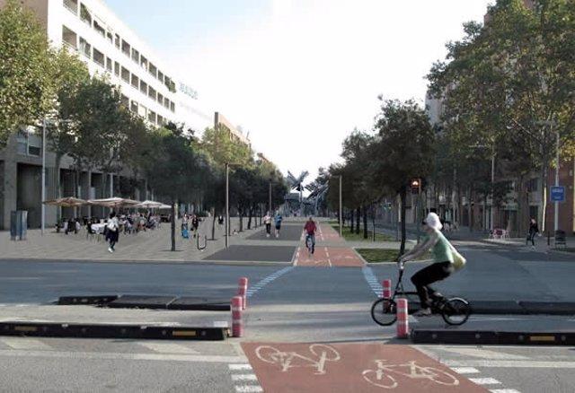 Proyecto de reurbanización de la Av.Icària.