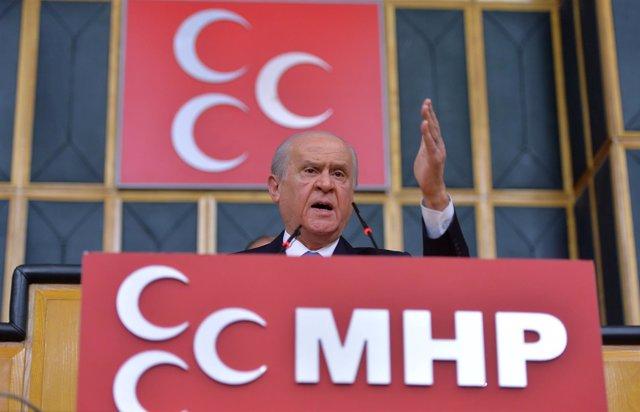 El líder del MHP turco, Devlet Bahceli
