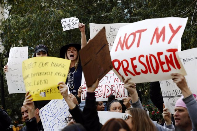 Manifestación contra Trump en Nueva York