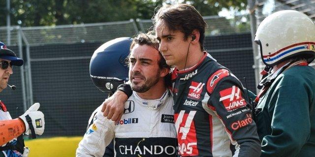Fernando Alonso Esteban Gutiérrez accidente Australia