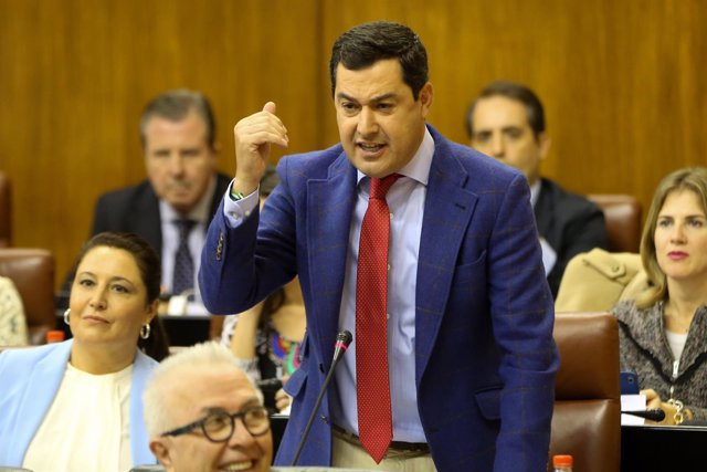Juanma Moreno, en su pregunta en el Parlamento a la presidenta