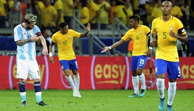 Messi en el Brasil - Argentina