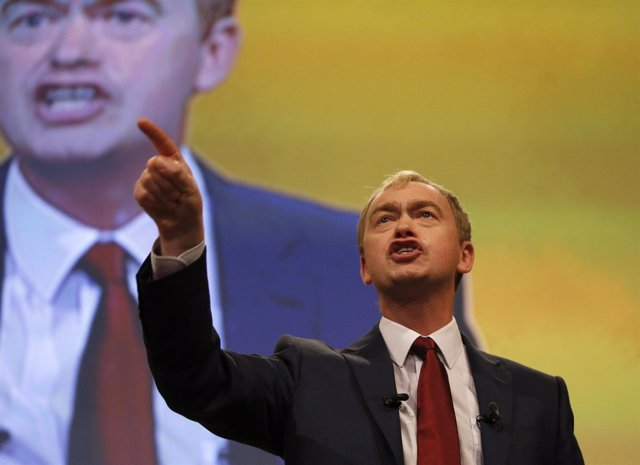 El líder del Partido Liberal Demócrata de Reino Unido, Tim Farron.