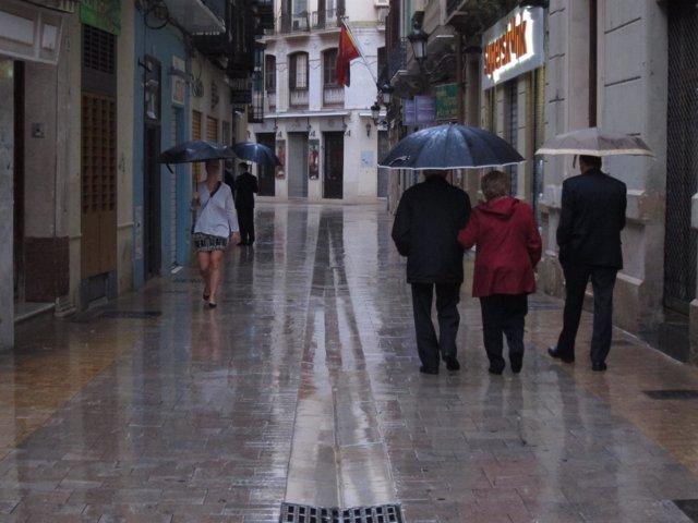 Lluvia, llover, centro, paraguas, agua, precipitaciones
