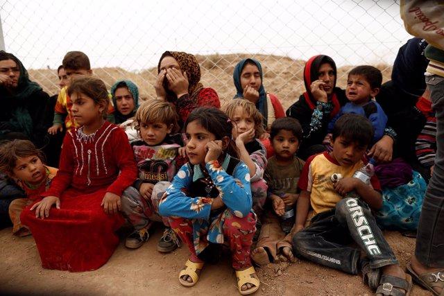 Desplazados por la ofensiva sobre Mosul