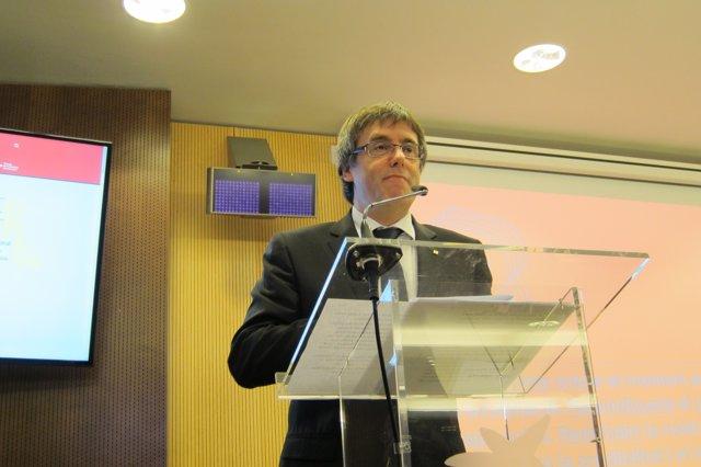 El presidente de la Generalitat, Carles Puigdemont