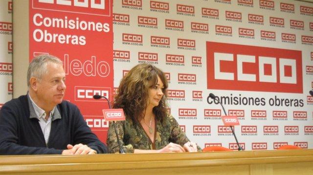 Barreda y Santillana (CCOO) en rueda de prensa