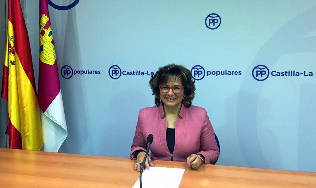 PP CLM (Cortes De Voz Y Fotografía) La Portavoz, Carmen Riolobos, En Rueda De Pr
