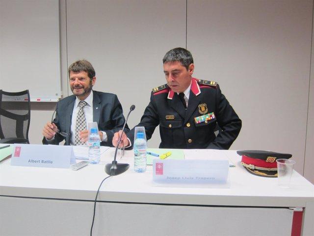 El director de Mossos Albert Batlle y el comisario jefe de Mossos J.L. Trapero