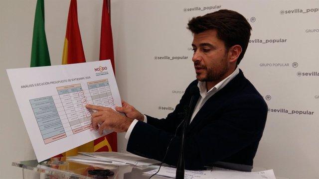 El concejal del PP de Sevilla Beltrán Pérez