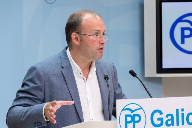 Miguel Tellado en rolda de prensa