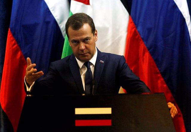El primer ministro ruso, Dimitri Medvedev