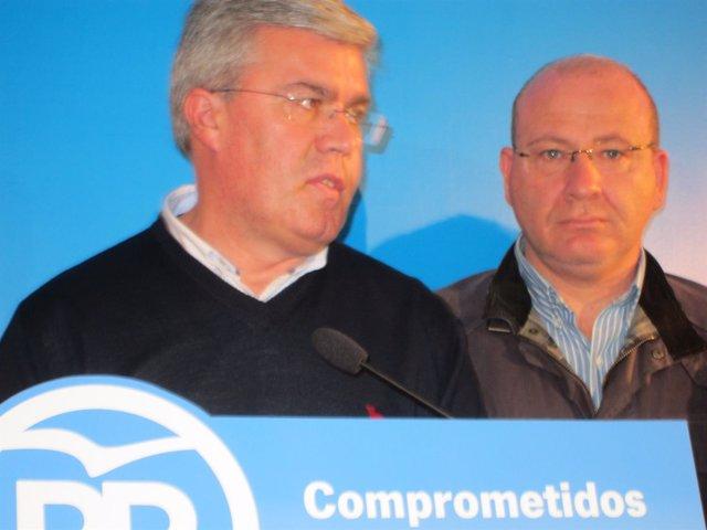Fernández de Moya y el alcalde de Jaén, Javier Márquez