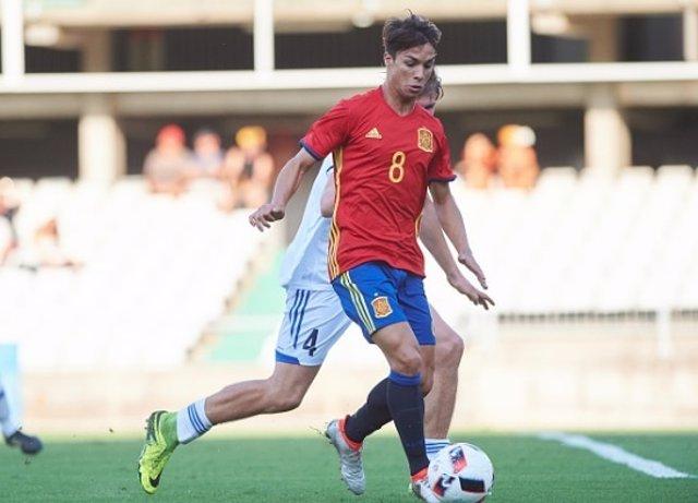 Óliver Torres con la selección Sub-21