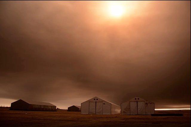 Contaminación por los pozos de petróleo incendiados en Irak