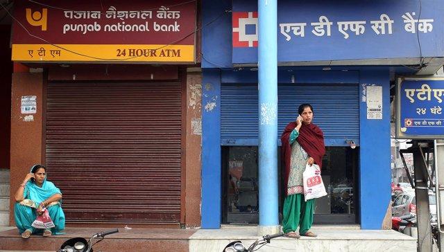 Cajero automático cerrado en India