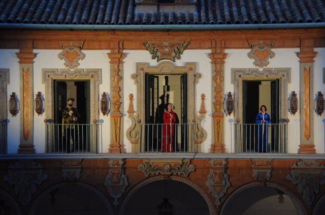 Representación teatral en la Feria de Municipios de Córdoba