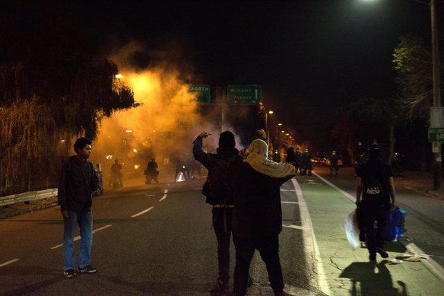 Protestas en Portland contra Donald Trump