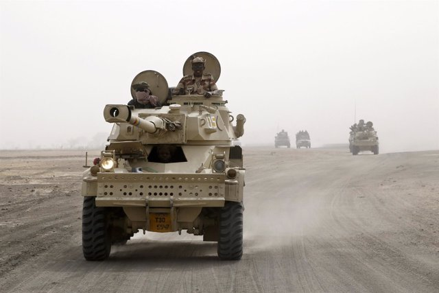 Blindados chadianos en la ofensiva contra Boko Haram